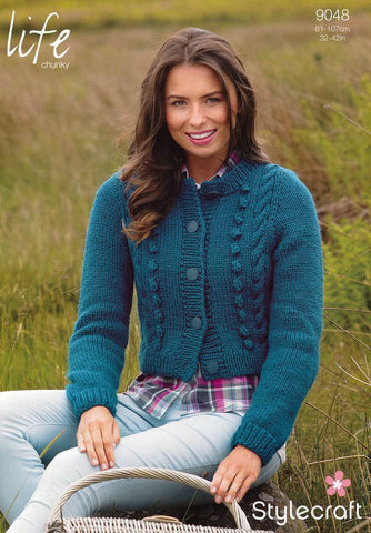 Cardigan in Stylecraft Life Chunky (9048)-Deramores