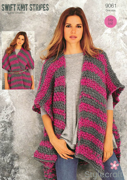 Ruana in Stylecraft Swift Knit Stripes (9061)