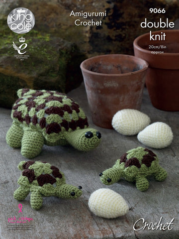 Tortoise Family in King Cole Pricewise DK (9066)