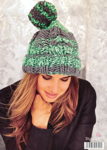 Hats in Stylecraft Swift Knit Stripes (9066)-Deramores
