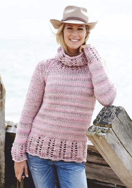 Ladies Sweater in Stylecraft Swift Knit Super Chunky (9070)-Deramores