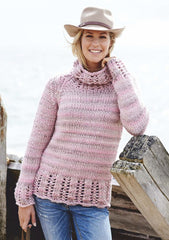 Ladies Sweater in Stylecraft Swift Knit Super Chunky (9070)