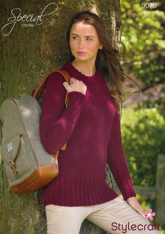 Fitted Sweater in Stylecraft Special Chunky (9079)-Deramores