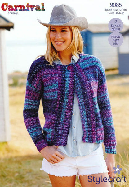 Jackets in Stylecraft Carnival Chunky (9085)-Deramores