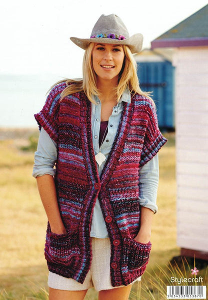 Waistcoat, Jacket and Snood in Stylecraft Carnival Chunky (9086)