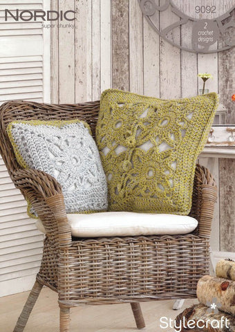 Cushion Covers in Stylecraft Nordic Super Chunky (9092)-Deramores
