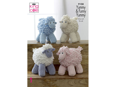 Knitted Sheep in King Cole Funny Yummy (9108)