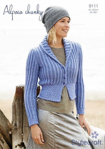 Ladies Fitted Jacket in Stylecraft Alpaca Chunky (9111)-Deramores
