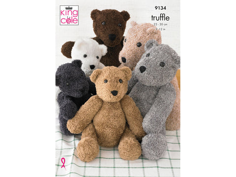 Teddies in King Cole Truffle (9134K)