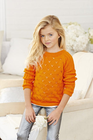 Girls' Sweaters in Stylecraft Classique Cotton DK (9135)-Deramores