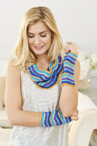 Cowl and Wrist Warmers Set in Stylecraft Malabar (9148)-Deramores