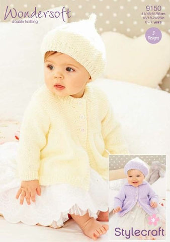 Girl's Coats and Beret in Stylecraft Wondersoft DK (9150)-Deramores