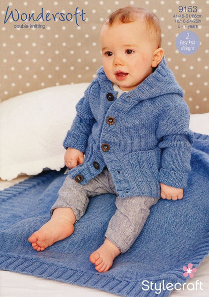 Boys Coat and Blanket in Stylecraft Wondersoft DK (9153)-Deramores