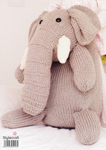 Elephant in Stylecraft Life Super Chunky (9162)-Deramores