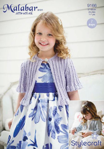 Girls Occasion Cardigans in Stylecraft Malabar (9166)-Deramores