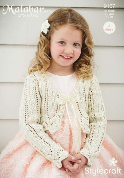 Girls Occasion Cardigans in Stylecraft Malabar (9167)-Deramores