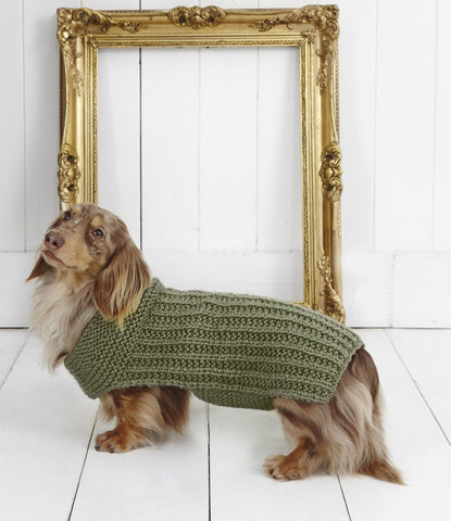 Ribbed Dog Coat in Stylecraft Life Chunky (9178)