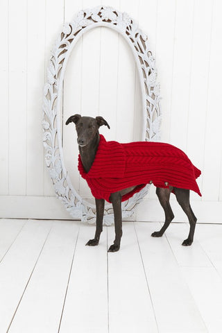 Cabled Dog Coat in Stylecraft Life Chunky (9180)-Deramores
