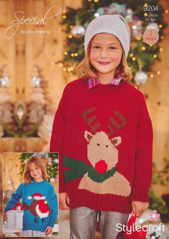 Christmas Jumpers in Stylecraft Special DK & Eskimo DK (9204)-Deramores