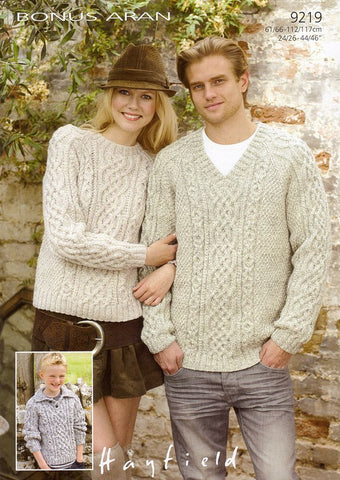 Sweaters in Hayfield Bonus Aran (9219)