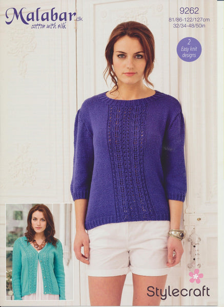 Cardigan and Sweater in Stylecraft Malabar DK (9262)-Deramores