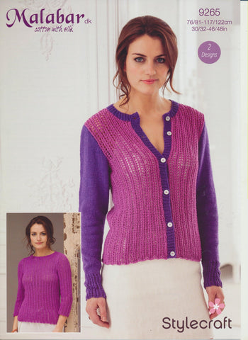 Cardigan and Sweater in Stylecraft Malabar DK (9265)-Deramores