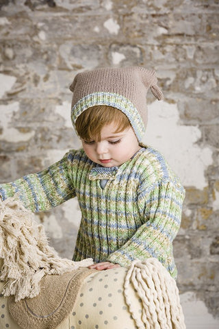 Sweater, Hat and Bootees in Lullaby Print and Lullaby DK (9280)
