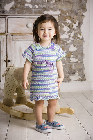 Dress and Sweater in Lullaby DK Print and Lullaby DK (9283)-Deramores