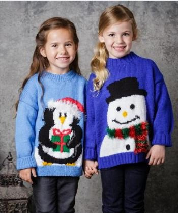 Childrens Christmas Jumpers in Special DK (9309SC)-Deramores