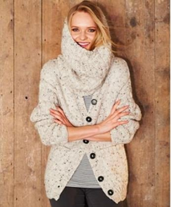 Cardigans and Snood in Alpaca Tweed Chunky (9320)-Deramores