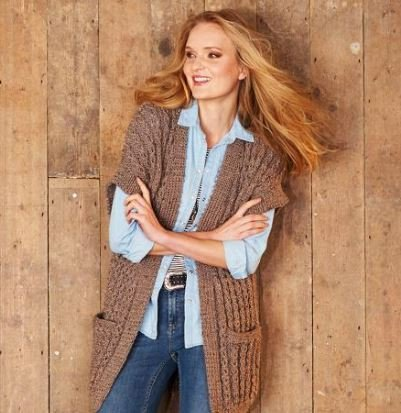 Jacket and Waistcoat in Stylecraft Alpaca Tweed Chunky (9321)-Deramores