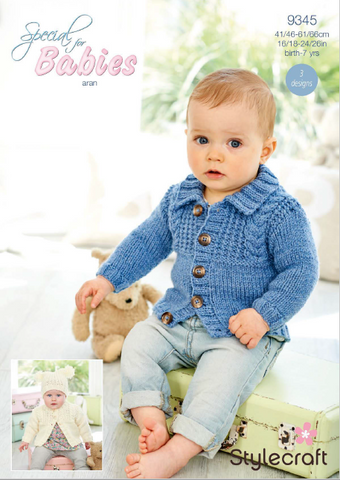 Cardigans and Hat in Special for Babies Aran (9345)