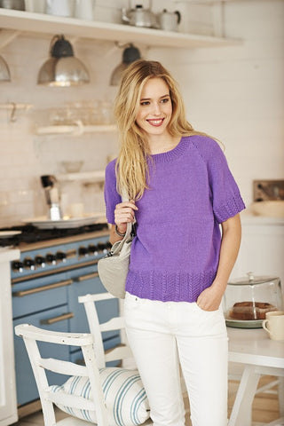 Tee and Cardigan in Stylecraft Classique Cotton 4 ply - (9369)