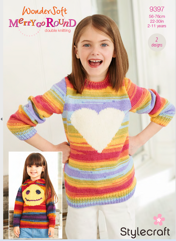 Sweater and Hoodie in Wondersoft Merry Go Round (9397)