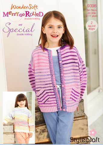 Cardigan and Tunic in Wondersoft Merry Go Round & Special DK (9398)