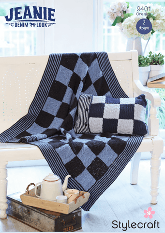 Stylecraft Jeanie Blanket Kit (9401) - Yarn and Pattern