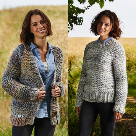 Cardigan & Sweater in Stylecraft Swift Knit Mega (9465)