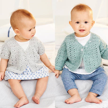 Babies Cardigans Crochet Kit and Pattern in Stylecraft Yarn (9532)