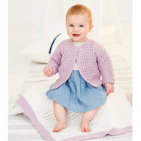Babies Cardigan & Blanket Crochet Kit and Pattern in Stylecraft Yarn (9533)