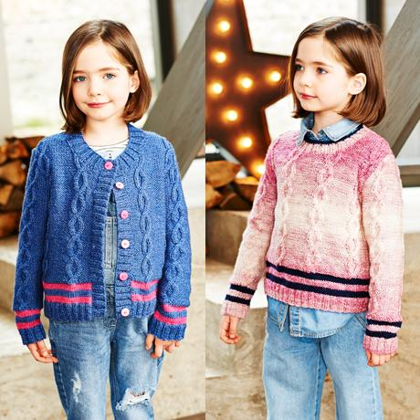 Girls Sweater & Cardigan in Stylecraft Life Changes DK & Life DK (9544)