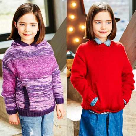 Girls Sweaters in Stylecraft Life DK & Life Changes DK (9546)