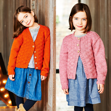 Girls Cardigans Kit in Stylecraft Life DK (9552)