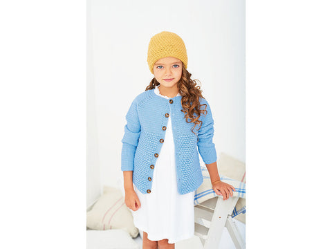 Crochet Cardigan & Hat in Stylecraft Bambino (9610)