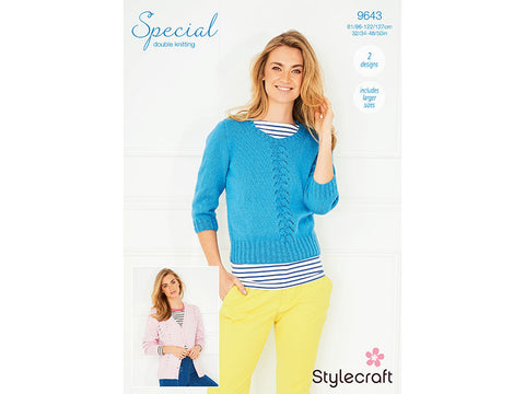 Sweater & Cardigan in Stylecraft Special DK (9643)