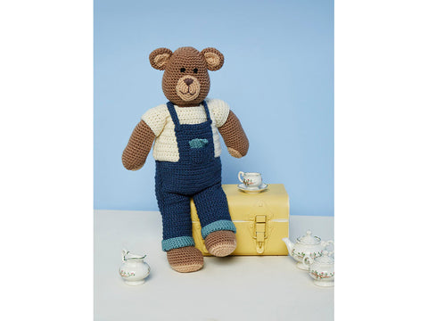 Crochet Bruno the Bear Toy in Stylecraft Special DK (9669)