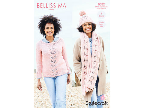 Sweater, Hat & Scarf in Stylecraft Bellissima Chunky (9692)