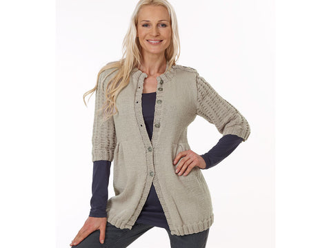 Ladies Long Cardigan in Rico Design Essentials Merino DK (40)