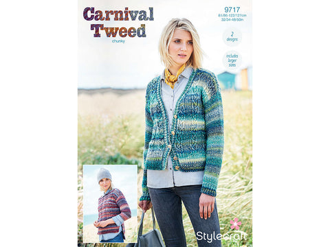 Cardigan in Stylecraft Carnival Tweed Chunky (9717)