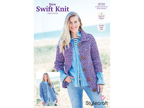 Jackets in Stylecraft New Swift Knit Super Chunky (9720)