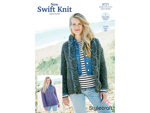 Jacket and Sweater in Stylecraft New Swift Knit (9721)